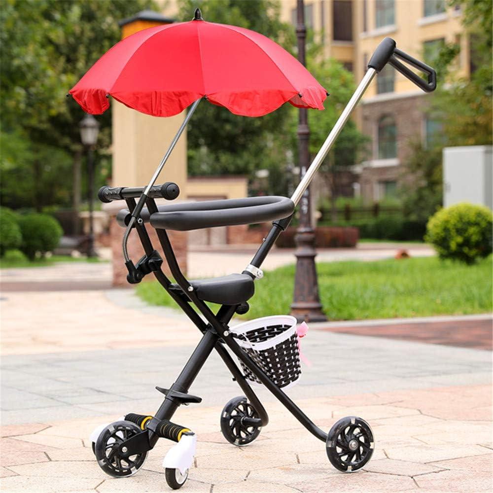 Portátil del Triciclo del bebé Cochecitos Carro para niños de 2~5 años del niño de la Compra de Moto Trike Padres manija Ajustable Parasol