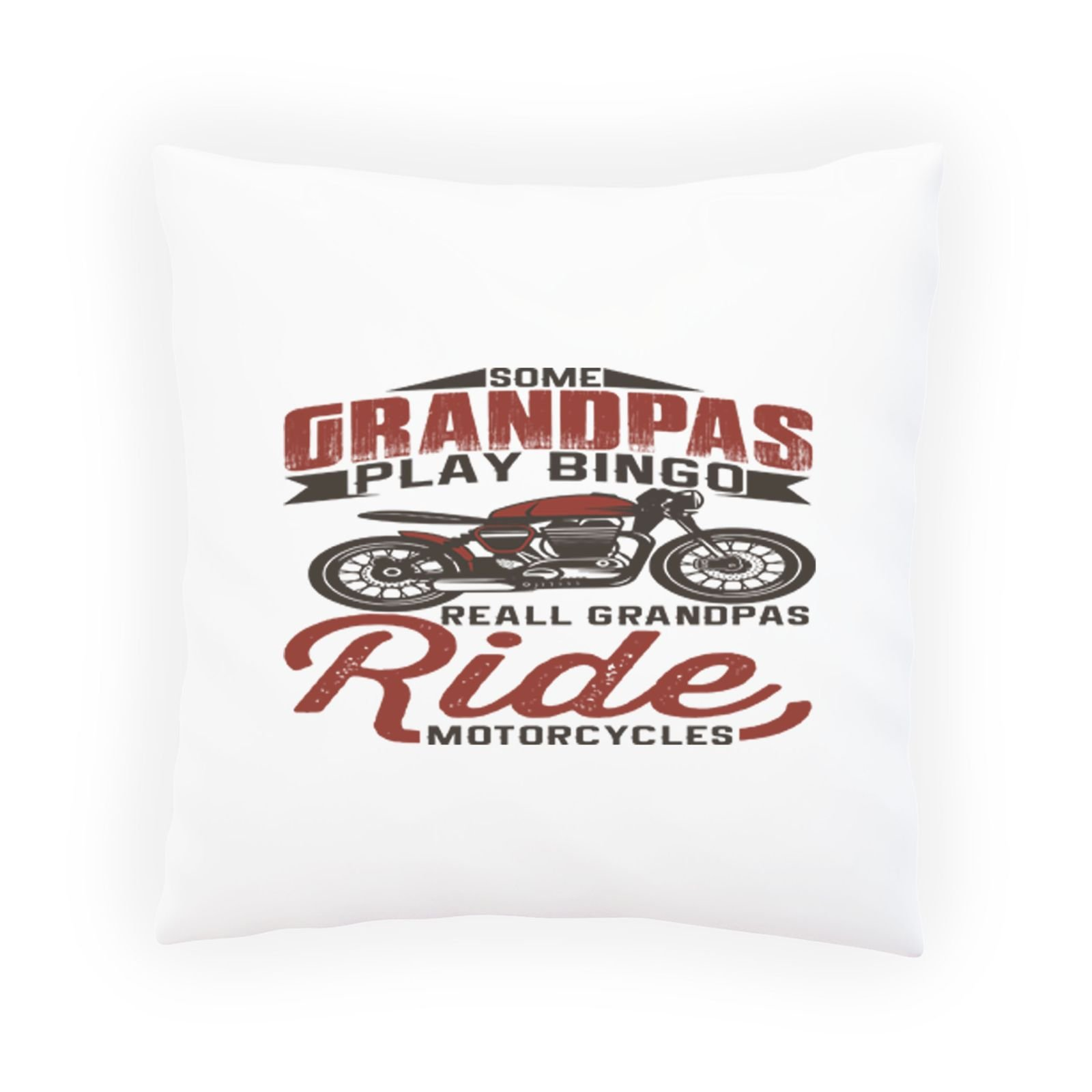 INNOGLEN Some Grandpas Play Bingo Motorcycle Decorative Pillow, Cushion cover with Insert or Without v815p
