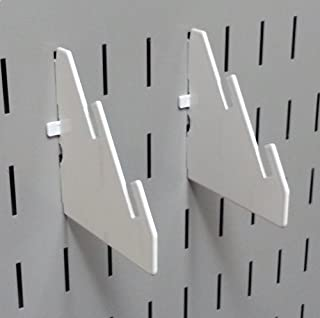 product image for Wall Control Pegboard Slotted Metal Pegboard Bracket Pair Accessory Pack for Wall Control Pegboard and Slotted Tool Board – White