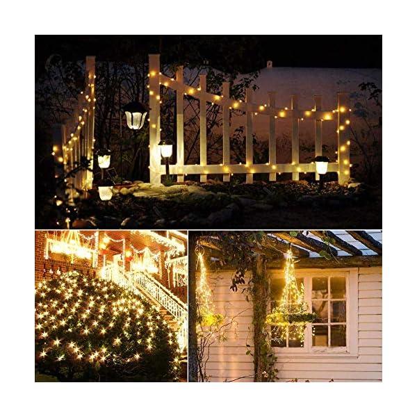Catena Luminosa Solare, 20M Stringa Luci Solari 200 LED / 8 Modi, Impermeabili Luci Decorative da Interni e Esterni per Festa, Giardino, Natale, Halloween, Matrimonio (Bianco Caldo-13) 6 spesavip