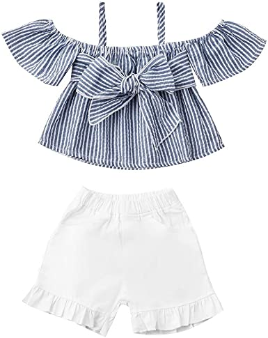 Baby Girl Summer Floral Sets,Jchen Infant Girl Solid Color Sleeveless Ruffle Romper+Shorts+Headbands Sets for 3-24 Months