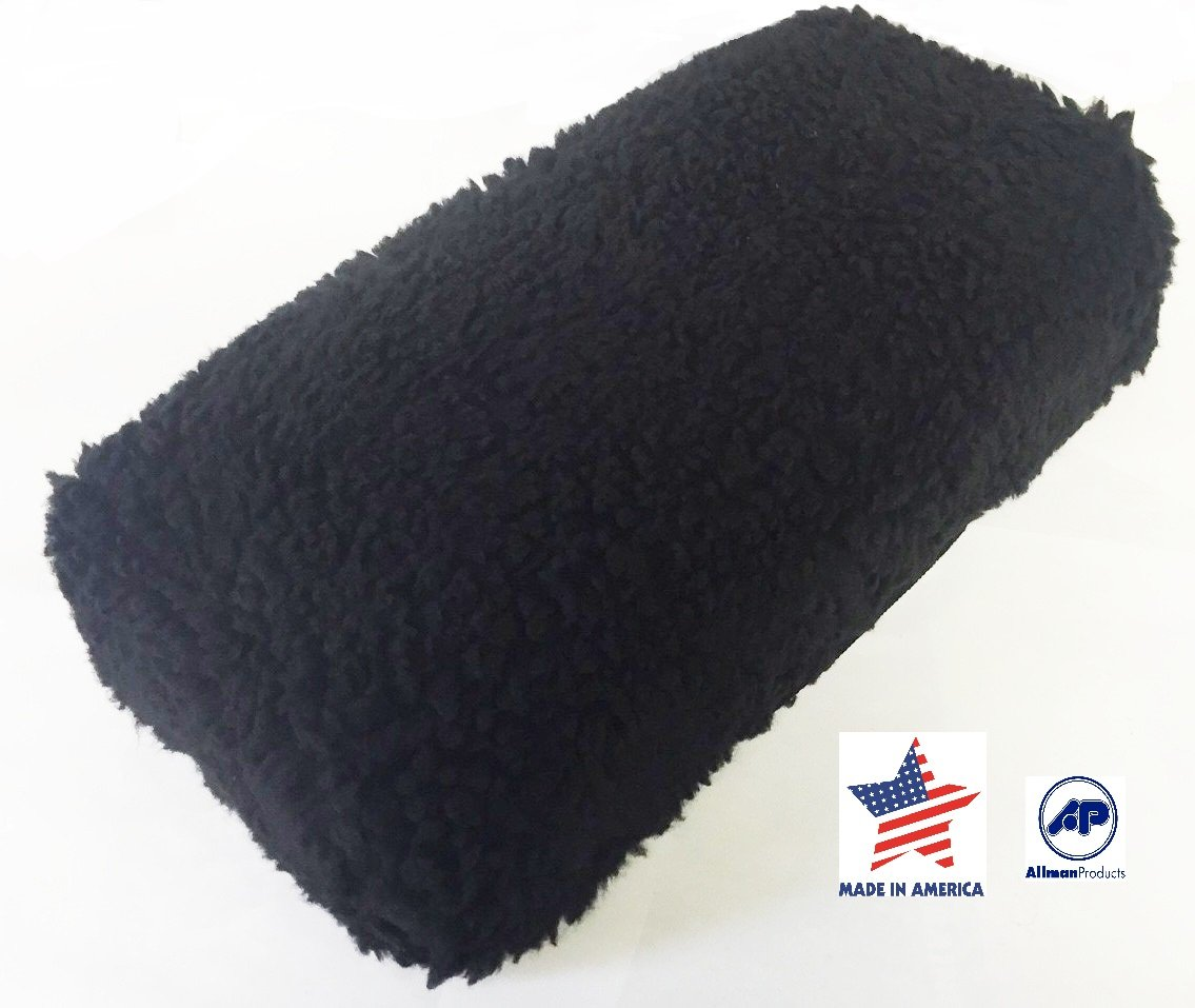 Allman Premium Black Fleece Knee Walker Cover - NEW 1'' dense foam insert