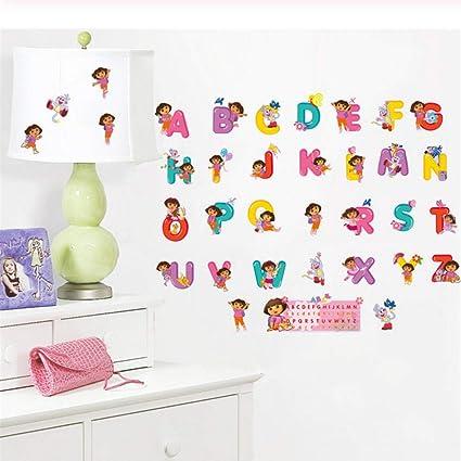 Amazon.com: Wall Sticker Gift Cartoon Dora Children\'s ...