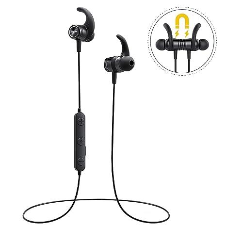 Mpow S10 Bluetooth Auriculares Deportivos, Resistente al Agua IPX7 Auriculares en Ear, 8 - 10 Horas de Tiempo de Parte/Tres de Cinta EQ/Bluetooth 4.1/HD de ...