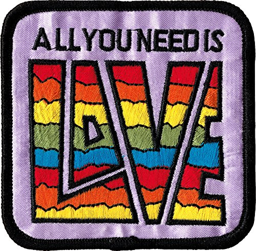 Embroidered Iron On Patch - All you Need is Love 3