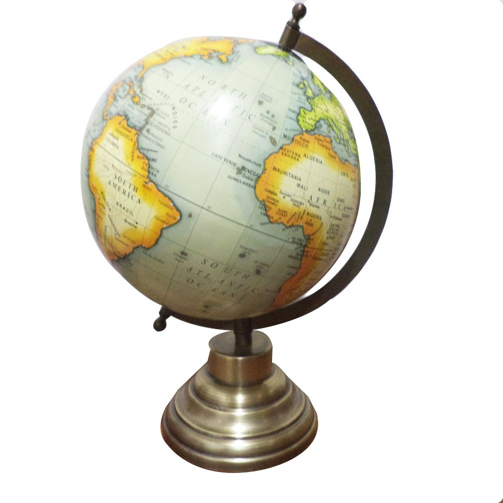 Globo decorativo giratorio para oficina, geografía de globo político del mundo, diseño de globo oceánico Imlistreet UGG048