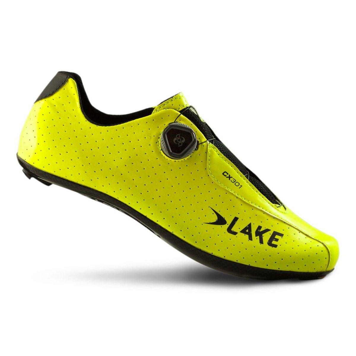 湖cx301 Cycling Shoe – Wide – Men 's B06XNSB5T4 47|ネオンイエロー (Fluo Yellow) ネオンイエロー (Fluo Yellow) 47