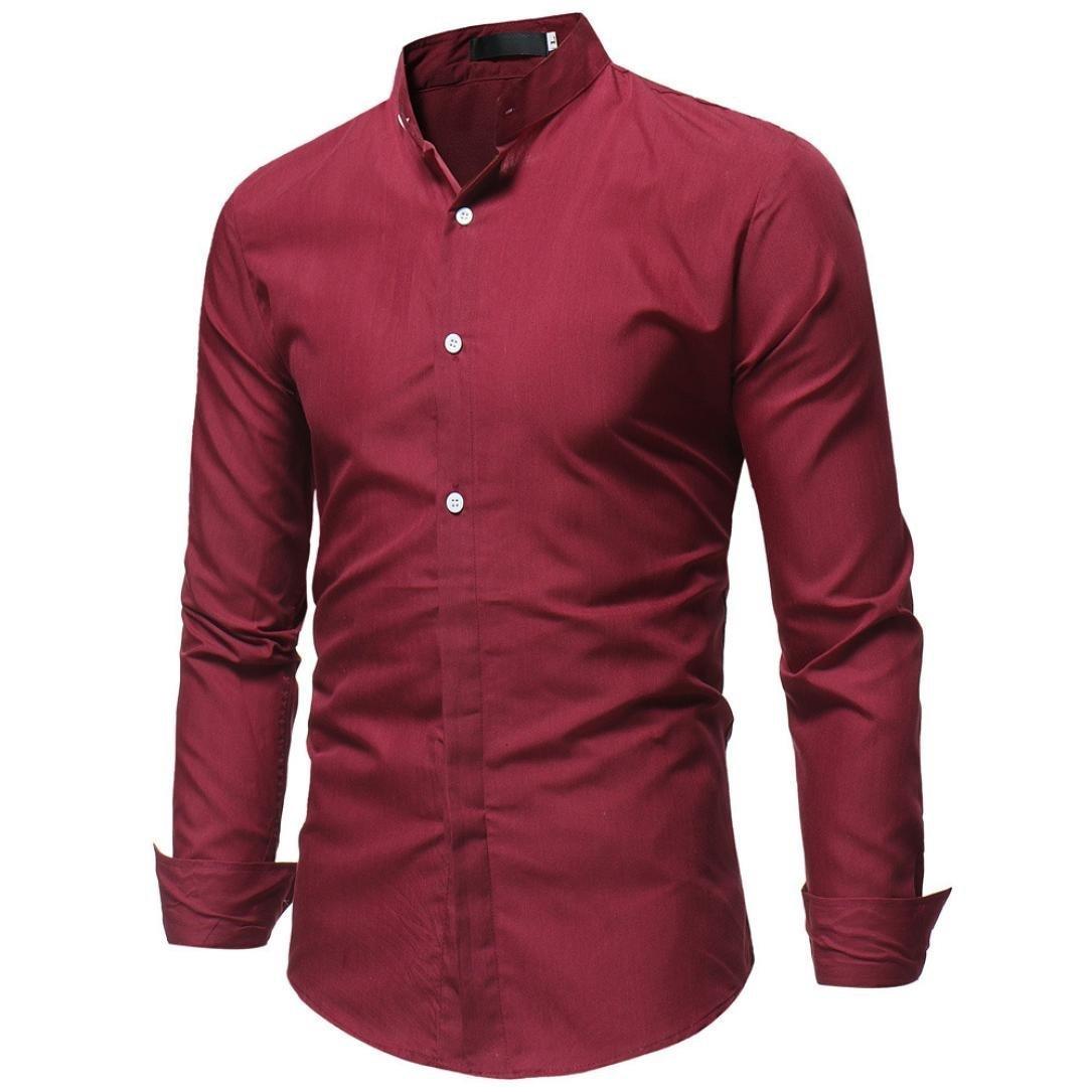 Ximandi Spring Autumn Cotton Dress Shirts Mens Casual Shirt Slim Fit Social Shirts
