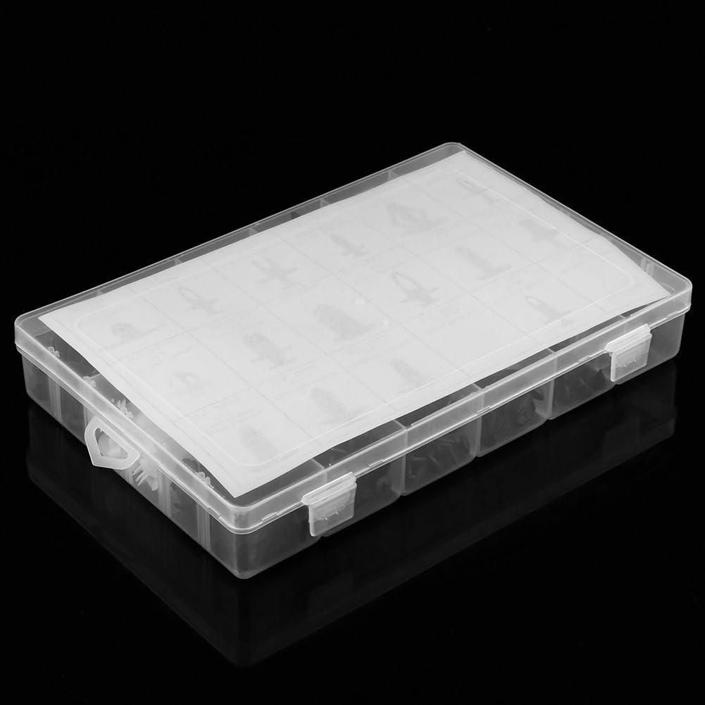 Gorgeri 415 st/ück 18 gr/ö/ßen kunststoff auto suv trim clips halter panel sto/ßstange befestigung mit enthalten box