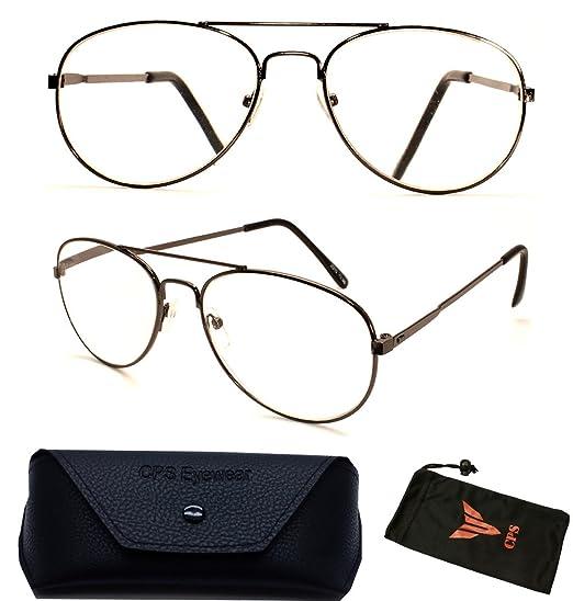 fc5cd813429 Amazon.com  1 Pair Metal Aviator Large Oval Shape Retro Men   Women Reading  Glasses Reader Optic Lenses (Strength  +3.50)  Clothing