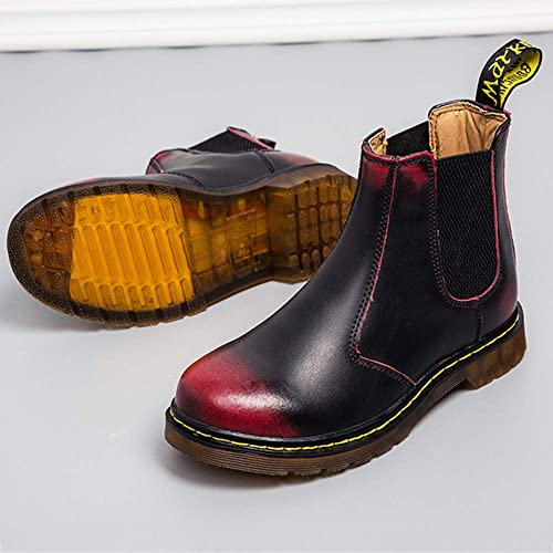 Chelsea Boots Uomo Nero Pelle Matrimonio Brogue Classico