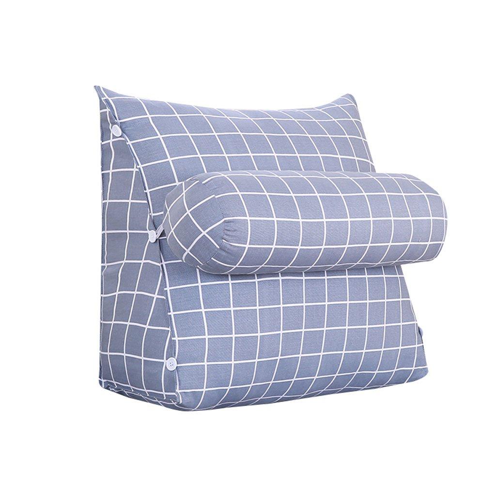 HN Bed pillows Bed Triangle Pillow With Headrest Sofa Bed Headrest Bay Window Cushion Back Office Pillow Lumbar Pillow Backrest Waist Pads (Color : B, Size : 60cm20cm50cm)