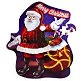 Premium Christmas Large Santa Floor Puzzle - 53 Sturdy Pieces - Perfect Jigsaw Puzzles For Kids 4 years old - Extra Thick Cardboard Large Pieces