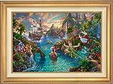 Disney Peter Pan's Never Land - Thomas Kinkade 24'' x 36'' Estate Edition (E/E) Limited Edition Canvas (Antique Gold)
