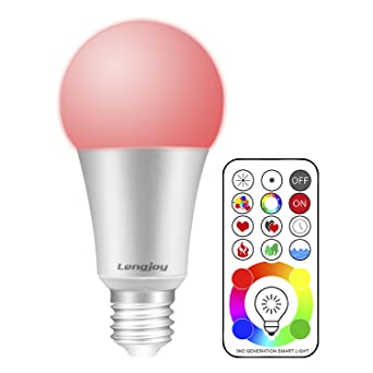 Led Rgbw Lampe Mit Fernbedienung 10w Led Farbwechsel Lampe A19 E27 Base Dimmbare 120 Farben Rgb Gluhbirne Mit Rgb Und Kaltweissem Licht