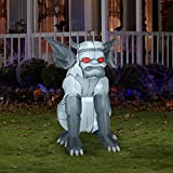 Grey Gargoyle Airblown Inflatable Halloween Yard Decor 4.5' Tall