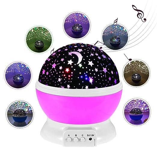 Explea Proyector de luz Nocturna Estrella de la música para el ...