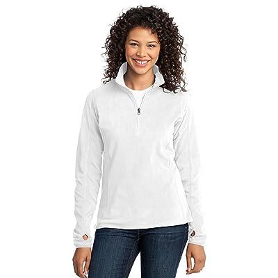 Port Authority Ladies Microfleece 1/2-Zip Pullover, White