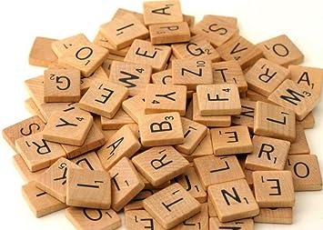 200 x Calidad Madera Azulejos Scrabble Manualidades Fabricación Joyería Completo Juego de Lizzy: Amazon.es: Juguetes y juegos