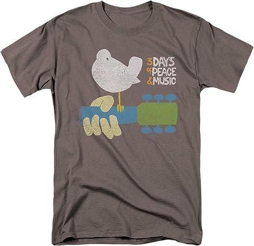 black Woodstock t-shirt for men woodstock music festival men/'s tee shirt