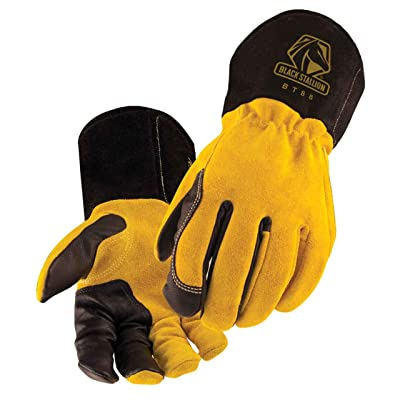 Revco BT88-XL BSX Premium 3 Kidskin Finger Cowhide Back TIG Welding Gloves: Industrial & Scientific