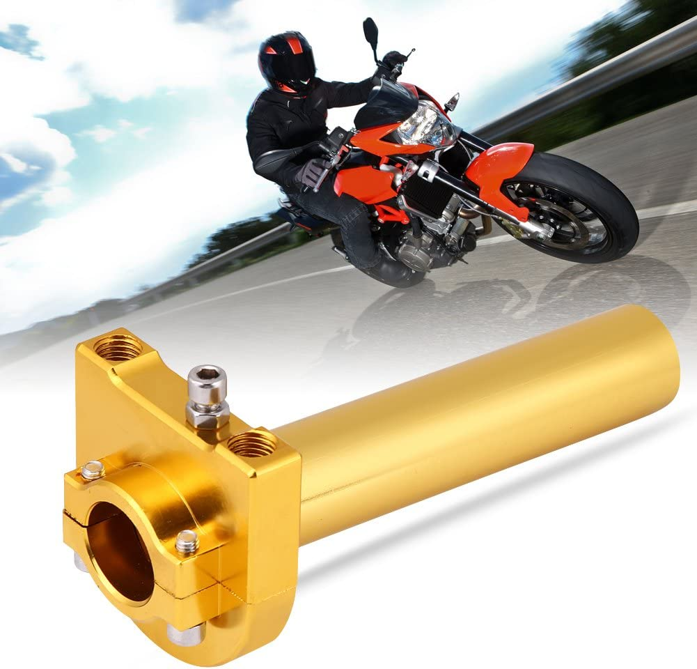 Gold KIMISS Universal Throttle Twist Grips,7//8 22mm Handlebar Throttle Twist Grips Accelerator for Motorcycle Scooter Dirt Bike