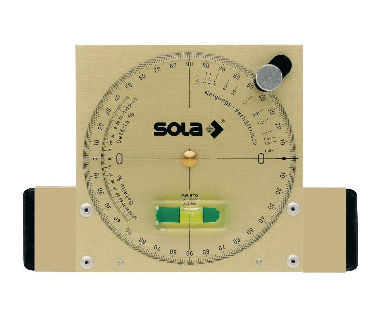 Sola NAM Nivel medidor de /ángulos magn/ético de aluminio extra resistente de 15 cm con burbuja de precisi/ón Focus