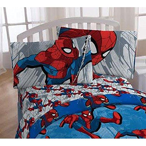 "Spiderman ""City Graphic"" 3 Piece Twin Size Sheet Set"