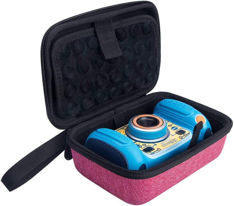 Fromsky Case for VTech KidiZoom Camera Pix, Travel Carrying Case Protective Storage Bag (Pink)