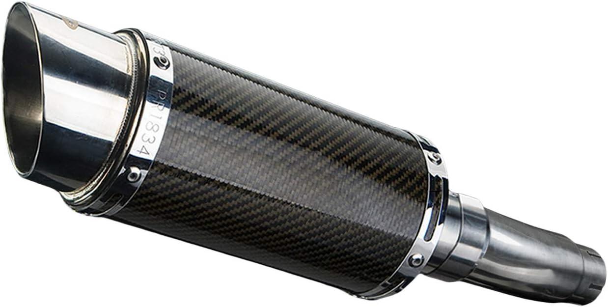Delkevic Aftermarket Slip On compatible with Suzuki SFV650 Gladius Mini 8 Carbon Fiber Round Muffler 09-15