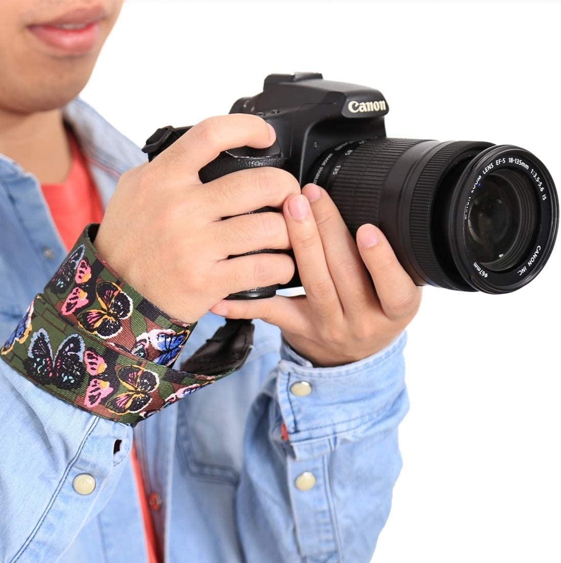 Color : Color2 Ychaoya Camera Belt Wuzpx Retro Pagan Style Particoloured Series Butterflies Shoulder Neck Strap Camera Strap for SLR//DSLR Cameras
