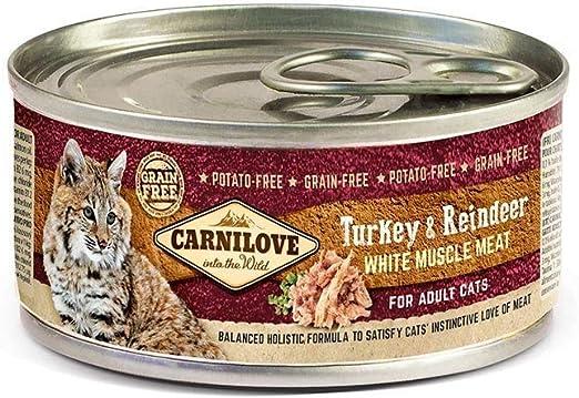 CARNILOVE Lata de comida húmeda para gatos (100 g, 6 unidades ...