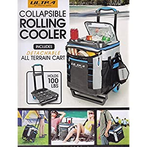 Arctic Zone Ultra Collapsible Rolling Wheel Cooler, 58 Cans