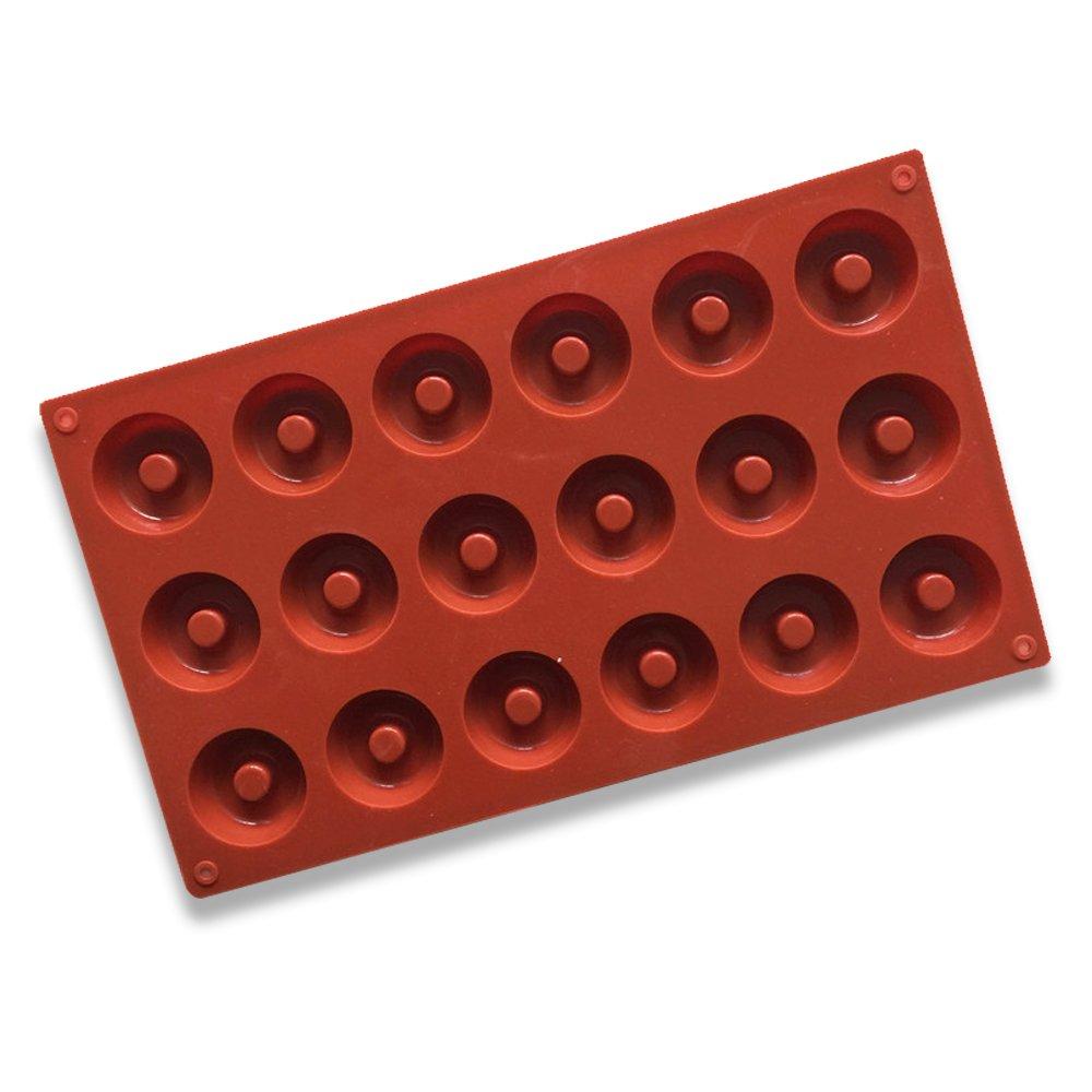 Ghiaccio Cupcake Cottura Cioccolato Ndier Stampo in Silicone Set di 18 Civit/à Stampi Muffin 3D Doughnut Rotondo per Dolci Mini Torta ECC