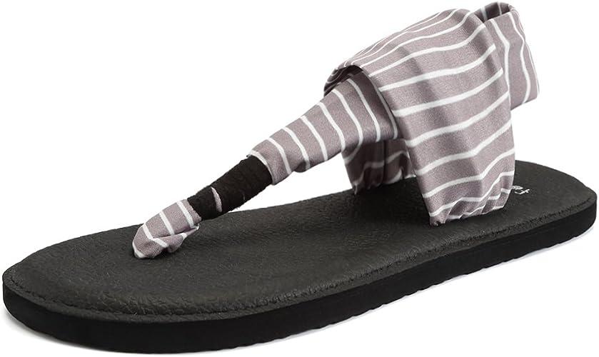 Amazon.com: CIOR - Sandalias planas de yoga para mujer con ...
