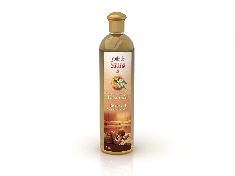 Camylle - Voile de Sauna - Solution à base d'huiles essentielles pour sauna – Fleur d'oranger - Déstressant – 500ml