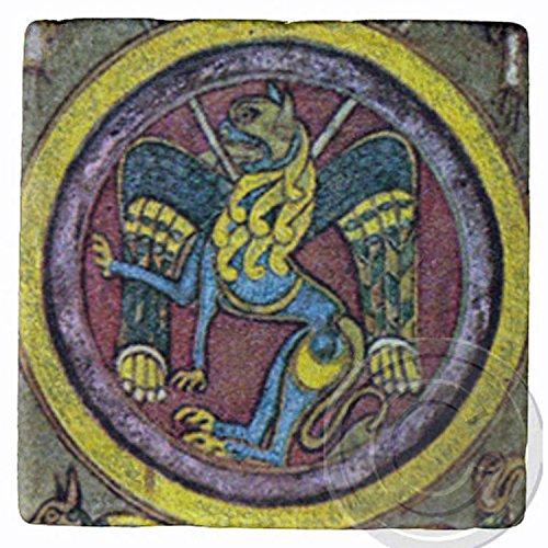 ケルズの書、ライオン、ケルトアイルランドコースター。   B075661FWT