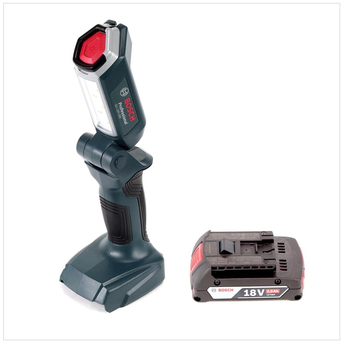Bosch Batterie-Lampe Gli 18v-300 sans batterie! Lampe de travail lampe de travail 06014a1100