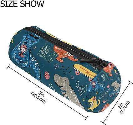 Estuche para lápices y monopatín, diseño de dinosaurios, color azul: Amazon.es: Oficina y papelería
