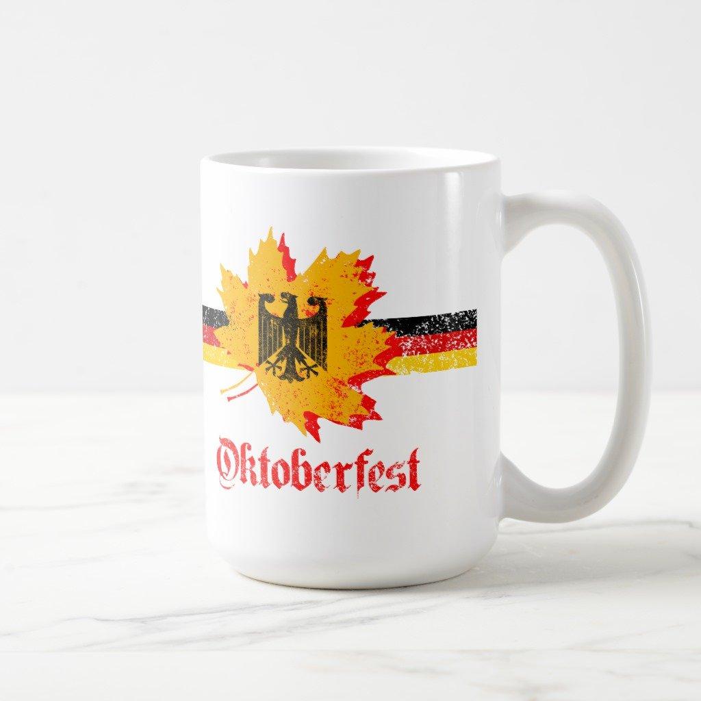 Zazzleオクトーバーフェストコーヒーマグ 15 oz, Classic Mug 3482ad81-2abe-b79d-5971-1e482c9670f5 B0789TNSWY  ホワイト 15 oz, Classic Mug