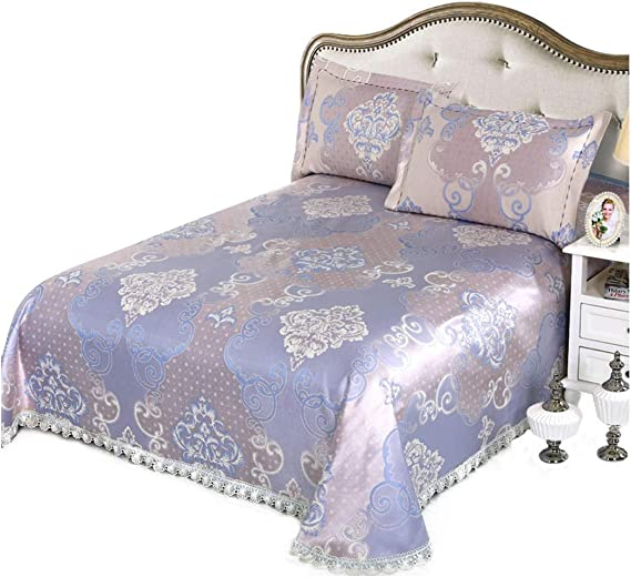 Bed skirt ice silk mat three-piece 2m bed folding summer air conditioning seat machine washable 1.8m soft mat
