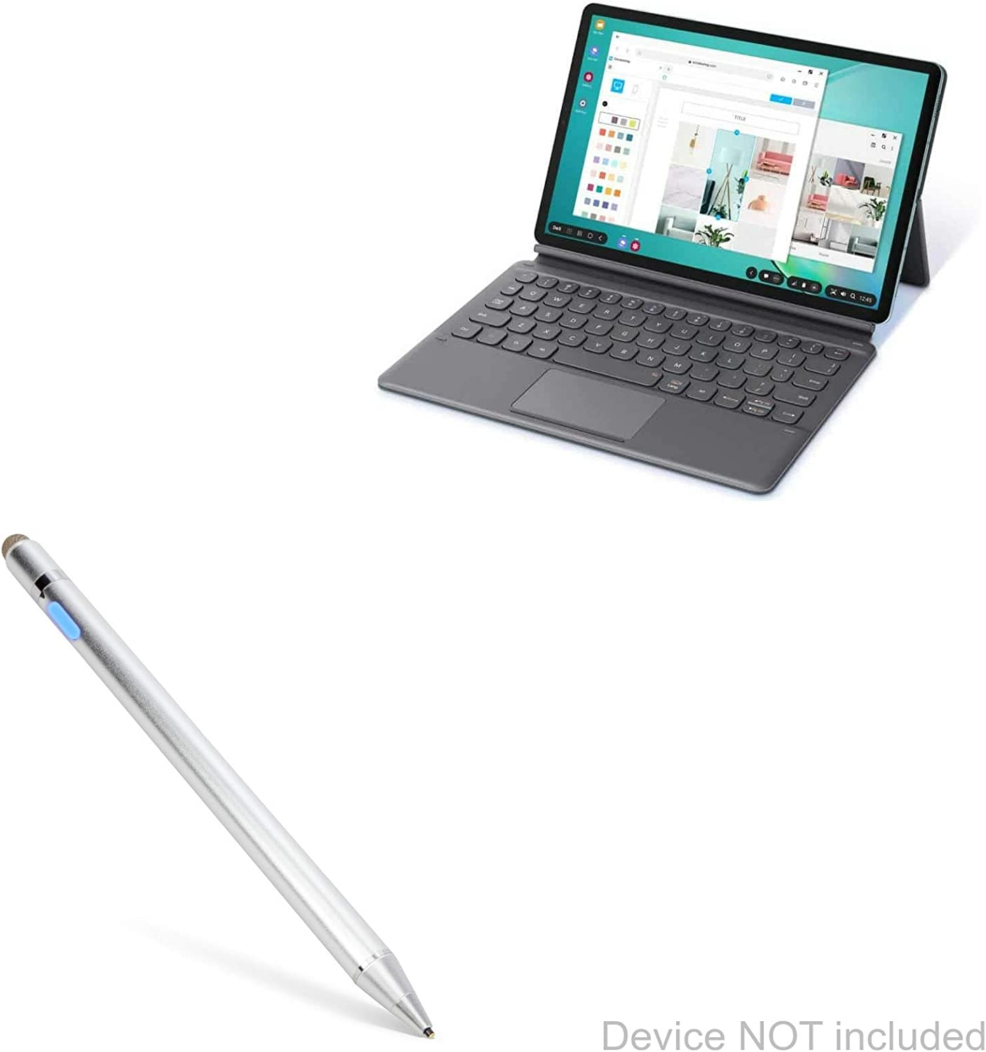 Broonel Black Fine Point Digital Active Stylus Pen Compatible with The Samsung Galazy Tab S6 10.5