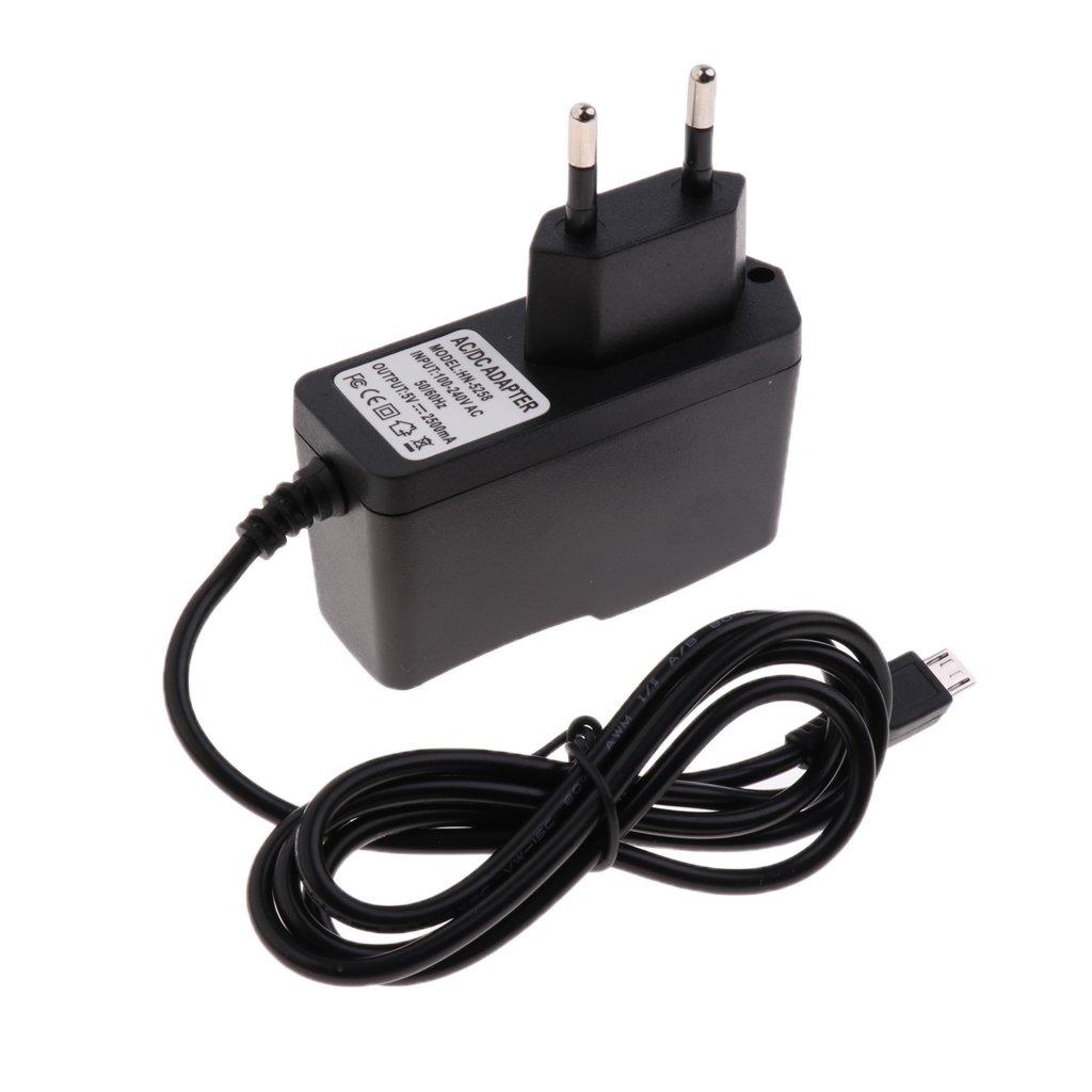 Sharplace 1 Pièce Adaptateur D'alimentation Raspberry Pi 3 Alimentation 5V 2.5A avec interrupteur 150cm Câble longueur Noir