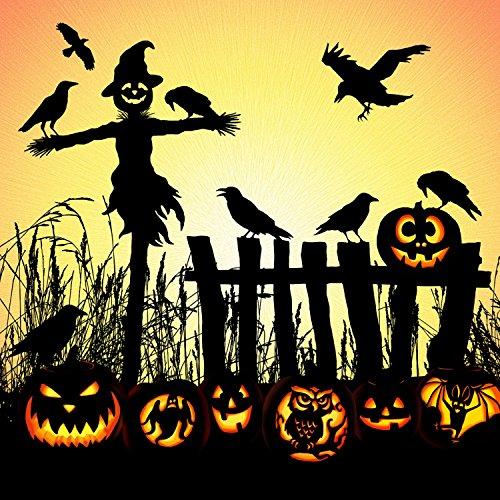Harvest Halloween Scarecrow Digital Panel from Hoffman Fabrics 100% Cotton Quilt Fabric Q4463H-116-44
