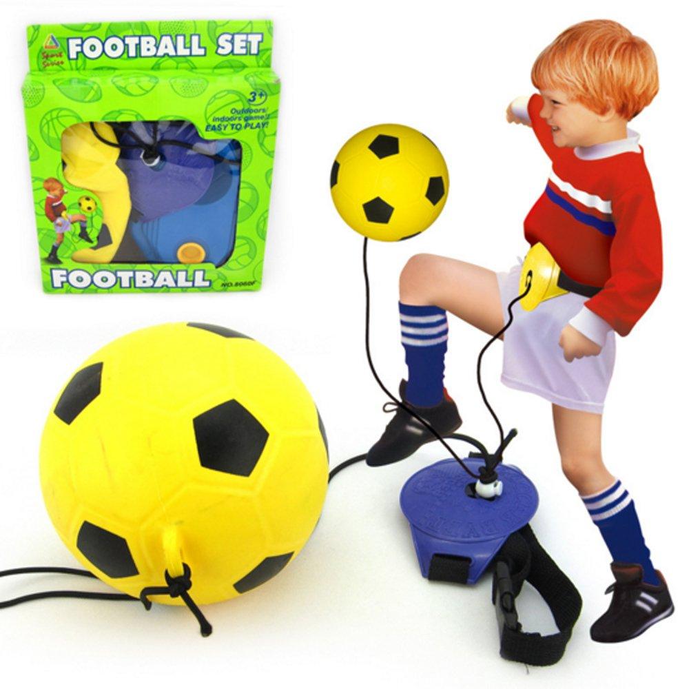 キッズ子供サッカートレーニングセット – スポーツゾーンアウトドア再生Reflexing Swingball Trianerキット3 in 1セット B01K7Y9YUA
