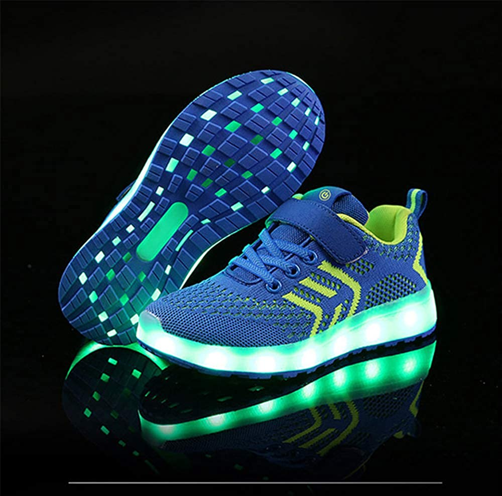 Sunny Day Boy and Girl LED Lights Shoes USB Charging Flying Woven Casual Shoes