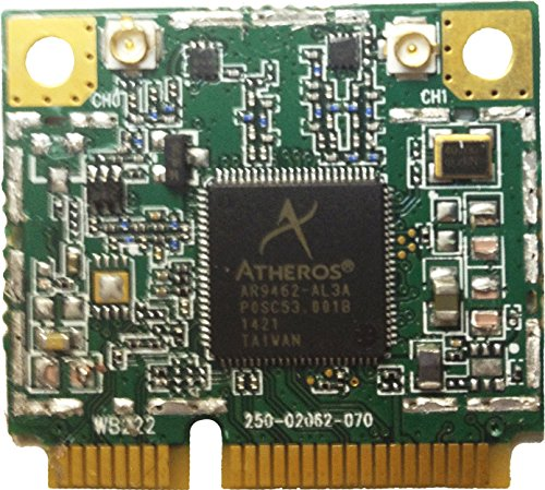 AIRETOS AEH-AR9462-LC Combo WiFi & Bluetooth 4.0 module, 802.11abgN Dual Band, 2T/2R Mini PCI-Express Half-Size Module, Atheros AR9462 chipset - Reference Design WB222 (AR5B22) by AIRETOS (Image #2)