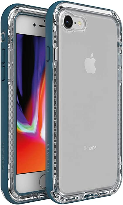 LifeProof Next Series Case for iPhone SE (2nd gen - 2020) and iPhone 8/7 (NOT Plus) - Clear Lake (Clear/Corsair)