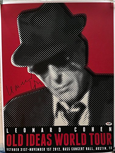 Leonard Cohen signed concert poster Austin halloween 2012 old ideas ps