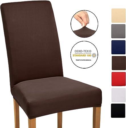 Beautissu Stuhlhusse Stretch Mia 35 50cm Hussen für Stühle